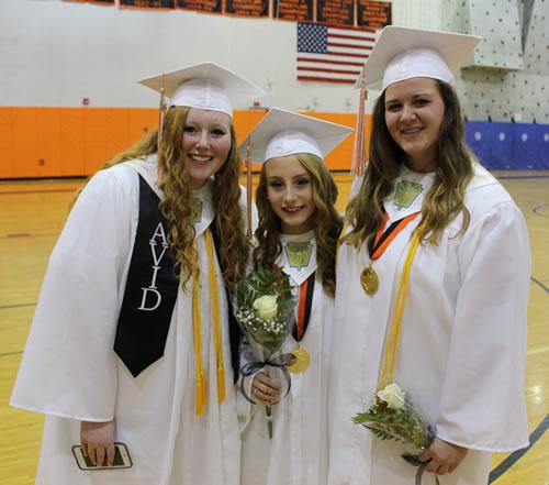 Amanda Blackburn, Rhiannon Burgess and Jessica Harling