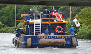 tugboat on the canal