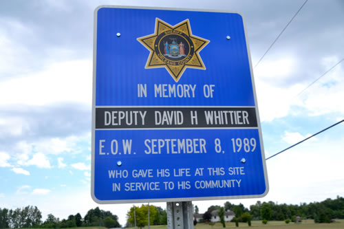 Sign for Deputy David Whittier