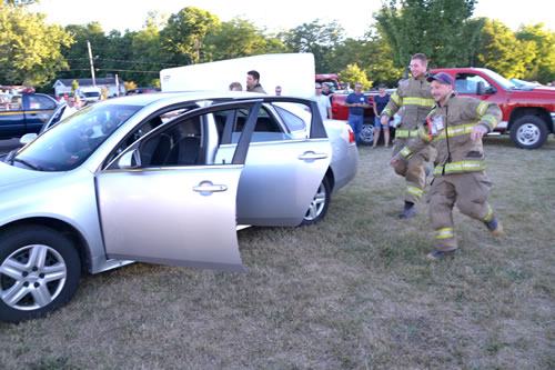 Firefighters at National Night Out