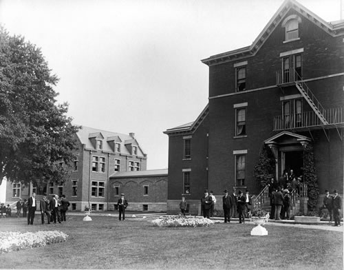 New hospital wing at Old Alms House