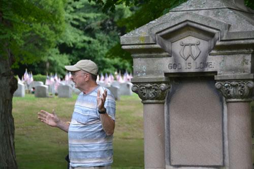 Bill Lattin at Mount Albion Cemetery