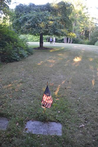 Clarence Pratt's grave