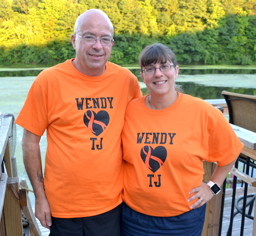 Photo by Tom Rivers: T.J. and Wendy Cannon have been training and raising money for a 50-mile walk Sept. 9-11 in a benefit for people battling Multiple Sclerosis. Mrs. Cannon was diagnosed with the condition almost 17 years ago.