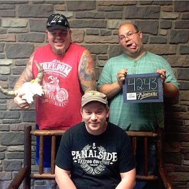Facebook: Myke LaVoice, Tim Elliott, and Joe Gould worked together to develop the escape room at Medina. The trio tried other escape rooms in the region. They are pictured after getting out of the Queen City Escape Room on Louisiana Street in Buffalo.