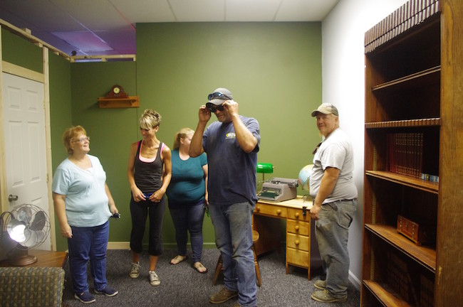 Photos by Thom Jennings This group tried to solve the clues in the Medina escape room last week. They include, from left: Tracy Jennings, Terry Stephens, Laura Stephens, Chris Dix and Megan Dix.