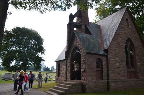 The chapel at Hillside Cemetery in Holley/Clarendon will be open for tours on Sept. 10. The cemetery is listed on the National Register of Historic Places.