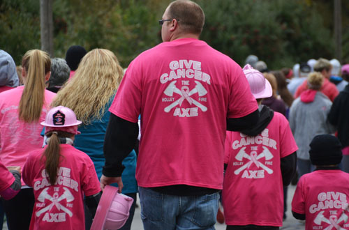 Kevin Dann and other Holley firefighters have been regular participants in the walk at Watt farms.