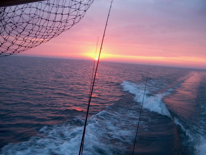 Fishing boat on Lake Ontario