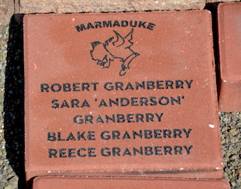 Many people have bought memorial bricks at the Marmaduke-Brad Anderson site.