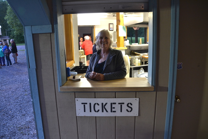 Paula Barrus, the attendance clerk at Holley, collected money for people going to the Holley-Albion girls soccer game last night. It cost $1 for adults and 50 cents for kids to go to the game.