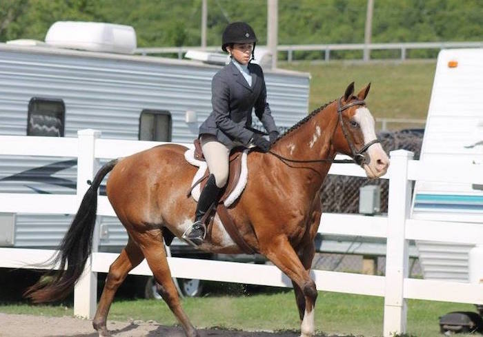 Hannah Weihling of Albion was among the honored riders at the State Fair.
