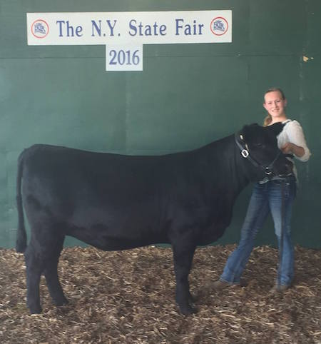 Provided photo: Rylie Lear of Waterport won Reserve Senior Showman in Beef.