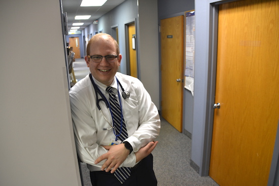 Photo by Tom Rivers: Dr. Keith Fuleki is pictured at Oak Orchard Health in Albion, where he started as a physician after completing a residency at Niagara Falls Memorial Medical Center.
