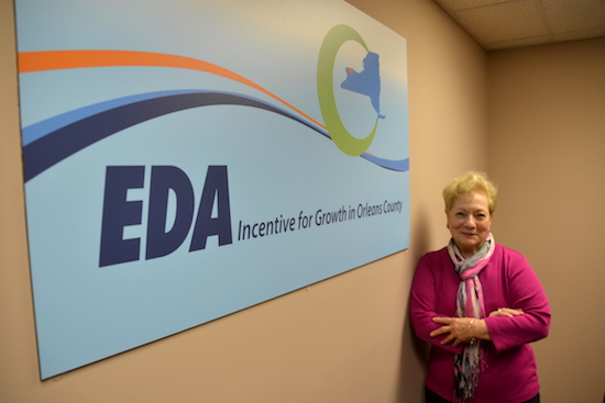 Photos by Tom Rivers: Gabrielle Barone, vice president of business development for the Orleans Economic Development Agency, has worked on many big projects in Orleans County the past dozen years.