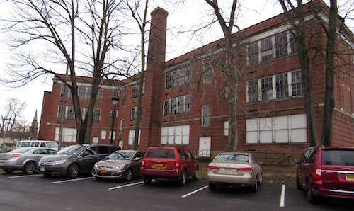 Photo by Kristina Gabalski: A public information meeting is being planned later this month on development plans for the old Holley High School.