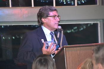 Tom Minigiello, president of the Kendall Lion Club