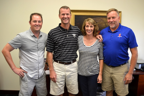 Ward Dobbins is pictured with some key members of the leadership team, including from left: Brent Baker, international accounts manager; Dobbins, Sheila Dobbins, (Ward's wife) and the company controller; and Ron Wilkowski, general manager.