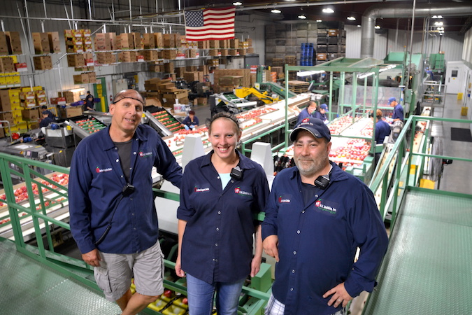 Some of the packing house leaders include, from left: Brian Murray, quality manager; Sherri Seefeldt, line operations and production supervisor; and Brian Murray, quality manager.