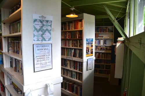 The Cobblestone Museum has donated books on the shelves in the former Voting House.
