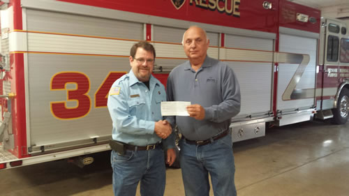 Eric Maxon and Mike Roth of Kendall Fire Department
