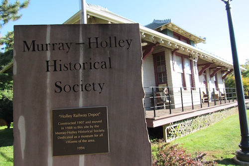 Photo by Kristina Gabalski: The Murray-Holley Historical Society operates this museum, a former train depot, on Geddes Street Extension.