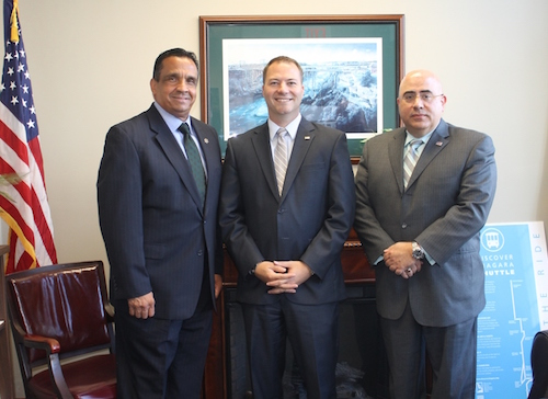 Provided photo: Pictured from left: Ruben Estrada, Director of Health Equity for the Orange County Dept. of Health; Senator Rob Ortt; and Dr. Eli Avila, Orange County Department of Health Commissioner.