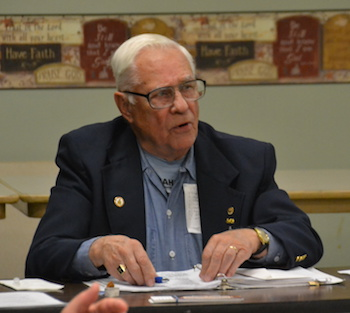 Frank Berger is the outgoing president for the Retired Teachers in Orleans County.