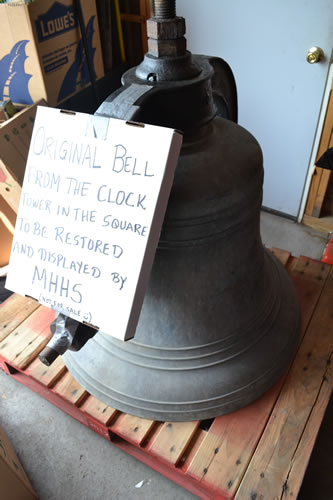 File photo by Tom Rivers: The museum includes many local artifacts including the church bellfrom the former United Methodist Church that was inthe Public Square. The church closed when the congregation moved to Route 237 in Clarendon.