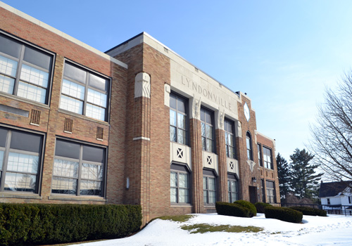 File photo by Tom Rivers: Lyndonville's former elementary school closed after the 2011-12 due to declining enrollment. The district tested 25 water sources at the building on Sept. 26 and 60 percent or 15 spots were too high in lead.
