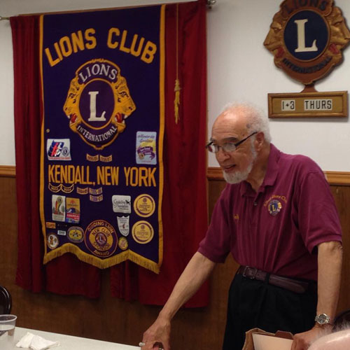 Photo courtesy of Helen Unterborn: Wallace Higgins, a former Kendall resident, shared his experiences as a Tuskegee Airman during a talk with the Kendall Lions Club. This photo is from June 2015.