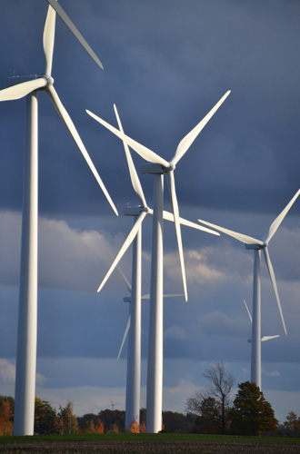File photo by Tom Rivers: The 400-foot-high wind turbines in Sheldon, Wyoming County, are pictured in October 2015.