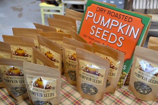 Partyka sells the seeds, which are grown without shells, at the Partyka Farm Market, 1420 County Line Rd., Kendall. The seeds are available at Wegmans, and many other farm markets and natural food stores in the region.