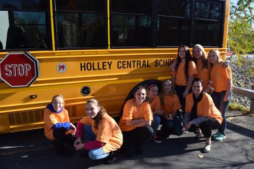 Provided photo: These Holley students are part of Project Sticker Shock through the Orleans United Drug Free Communities Coalition.