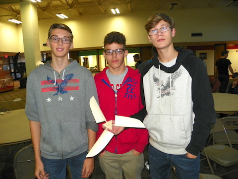 Provided photo: Electricity students at the Orleans Career and Technical Education Center in medina learned about wind energy recently. These students, all from Newfane, include, from left: Ethan Knott, Joe Brown and Cameron McGhee.