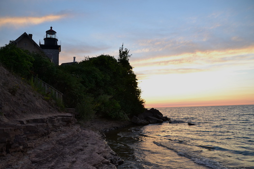 File photo by Tom Rivers: The lighthouse at Golden Hill State Park in Barker is pictured in this photo when the sun was setting in early August.