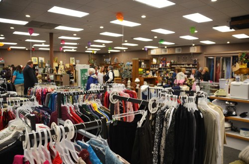 This file photo shows the inside of the Main Street Thrift Store, which used to be the American Legion in Albion.The store has clothing, collectibles, furniture and other items for sale.