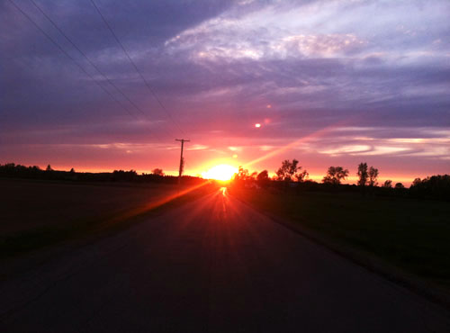 File photo by Tom Rivers: A road in rural Barre is pictured at sunset in this photo from May 21, 2015.