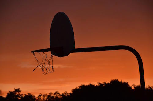 Photos by Tom Rivers: The basketball hoop at Bullard Park is pictured in this file photo from Aug. 4, 2015. The state is providing nearly $500,000 to upgrade the park.