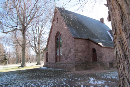 Photo by Kristina Gabalski: The Clarendon Historical Society is working to restore the chapel at Hillside Cemetery.