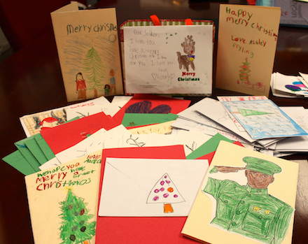 Provided photo: This photo from Congressman Chris Collins' Office shows some of the cards created by elementary students.