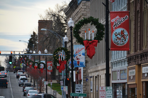 Photo by Tom Rivers: Downtown Albion is pictured in this photo from December 2015.