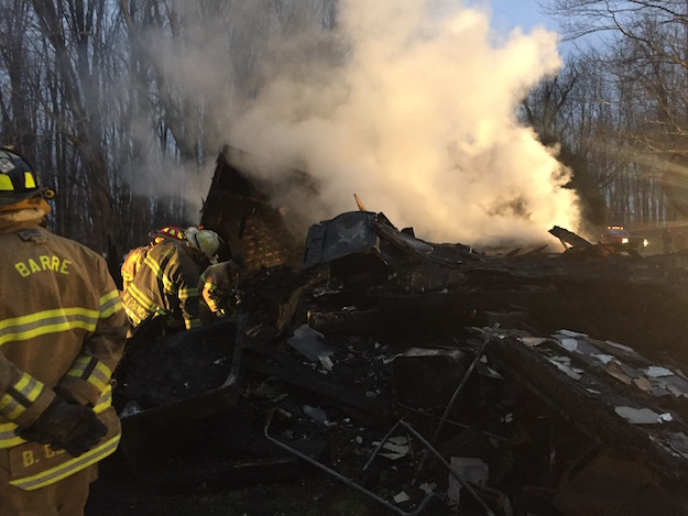 Provided photo: Fonda and Donald Carr's home in Barre was destroyed in a fire on Christmas Day.