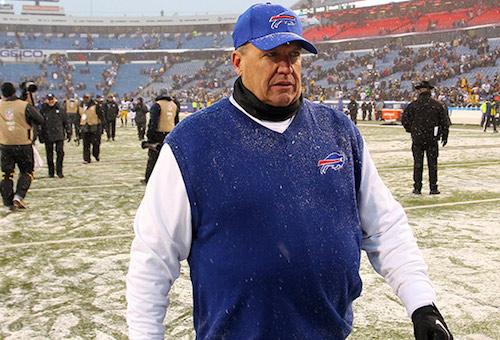 Photo from Buffalo Bills: Rex Ryan was 15-16 as head coach of the Bills.