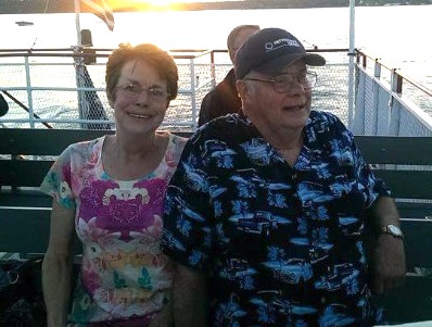 Provided photo: Don and Fonda Carr narrowly escaped with their lives at about 4 a.m. on Christmas when their house on fire turned into an inferno.