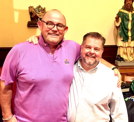 Provided photo: Chris Busch, right, is pictured with Ronan Tynan on Sept. 17. Tynan, one of the biggest names to perform in Orleans County in many years, sang to a capacity crowd at St. Mary's Catholic Church.