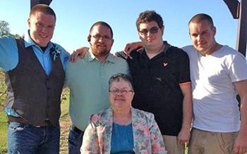 Kathy Gavenda and nephews