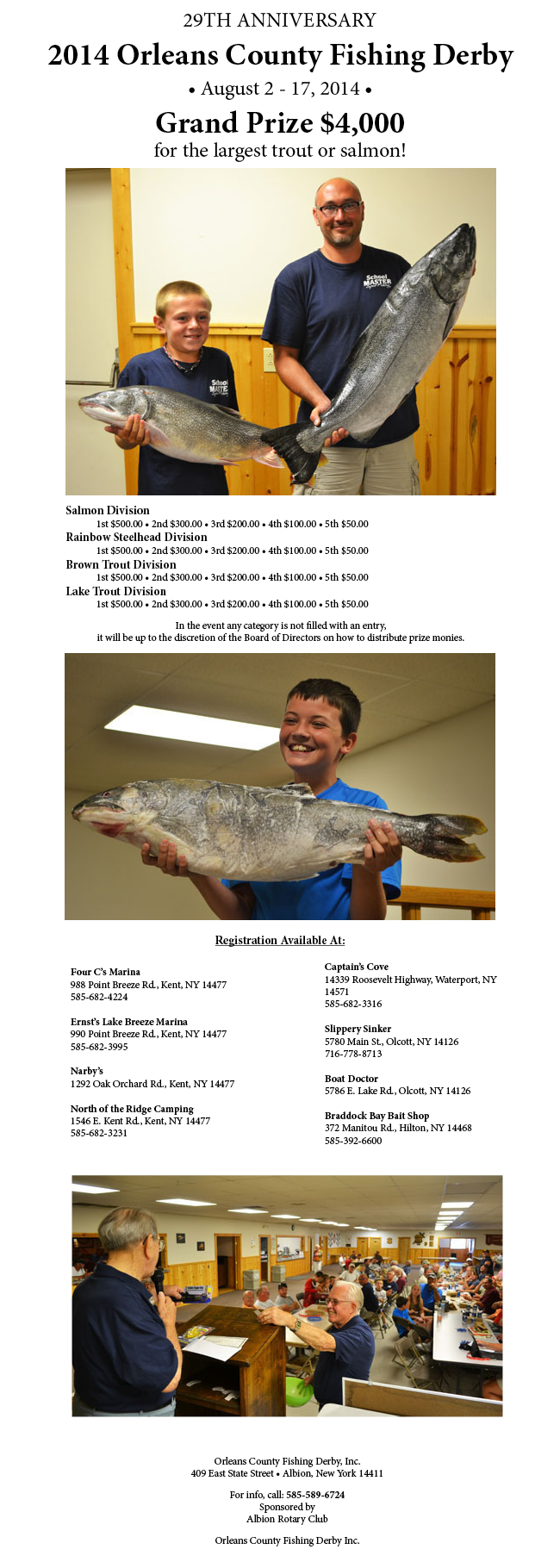 Orleans County Fishing Derby 2014 results