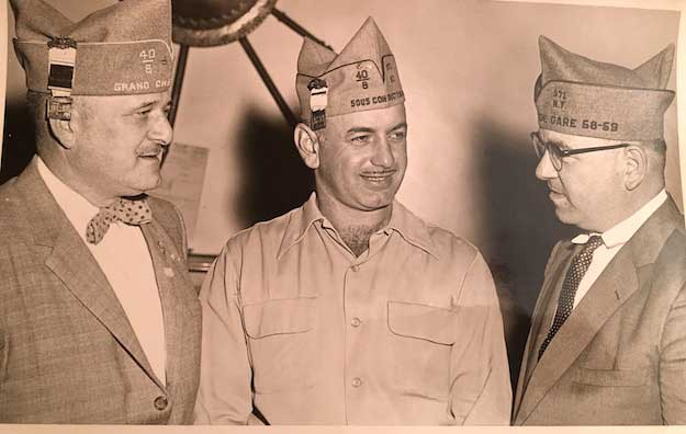 Rocco Sidari, center, was active in the Legion locally and state-wide. He was a member of the Legion in Albion for 73 years.