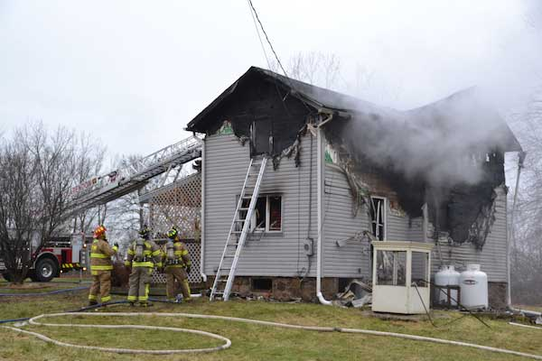 The house suffered extensive damage.